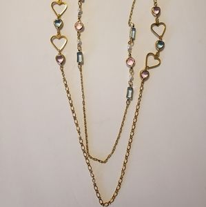 Two Avon Gold Chains with crystals